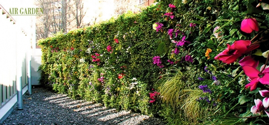 Safe and resistant vertical garden