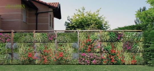 Elemento separador entre parcelas, terrazas o ambientes