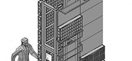 construcción de jardines verticales mediante módulos