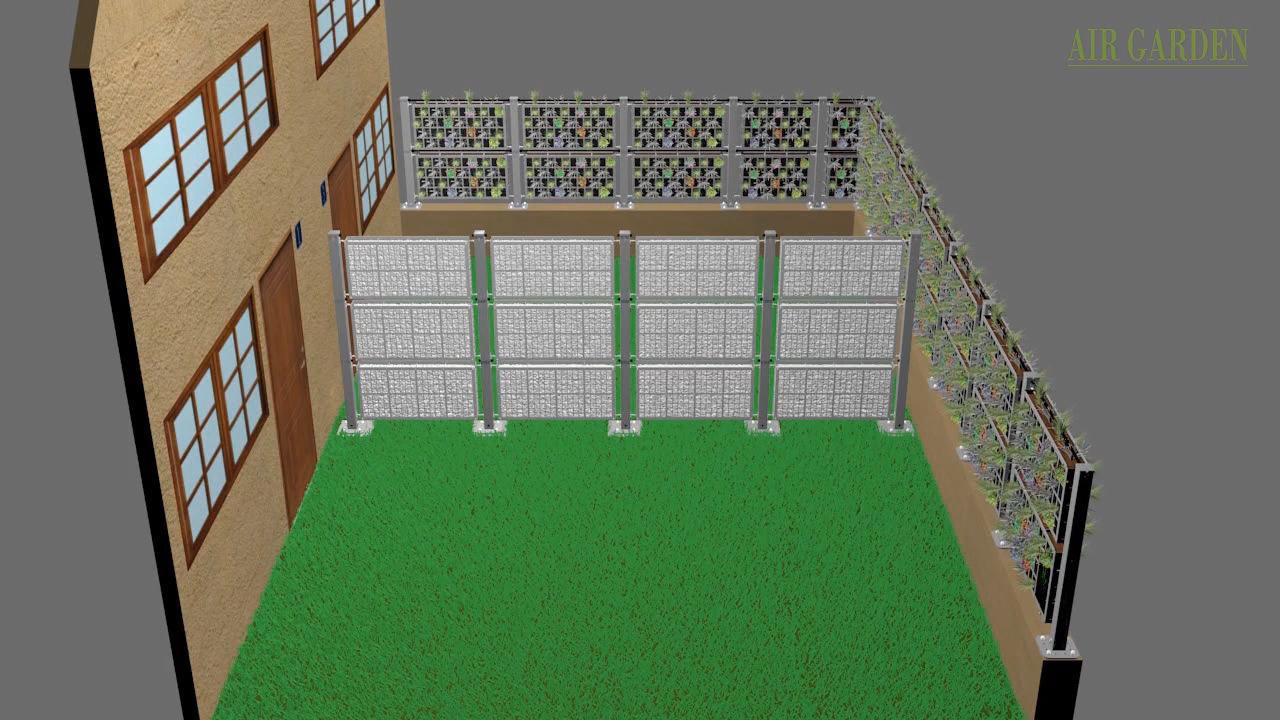 Elemento separador entre parcelas, terrazas o ambiente