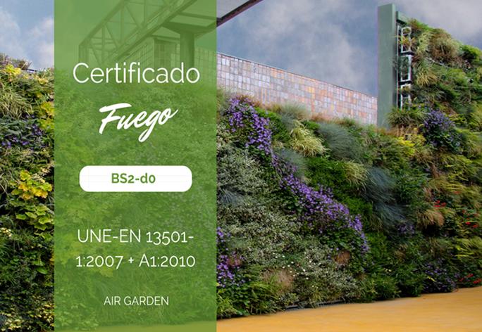 certificado fuego bs2-d0 fachada vegetal