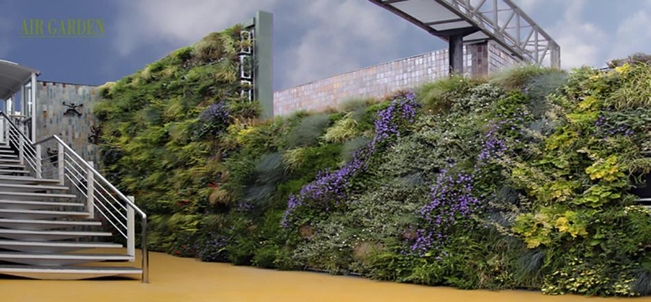 Sistema modular de plantación vegetal vertical.