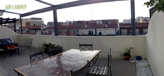 Diseños de terrazas urbanas antes y después