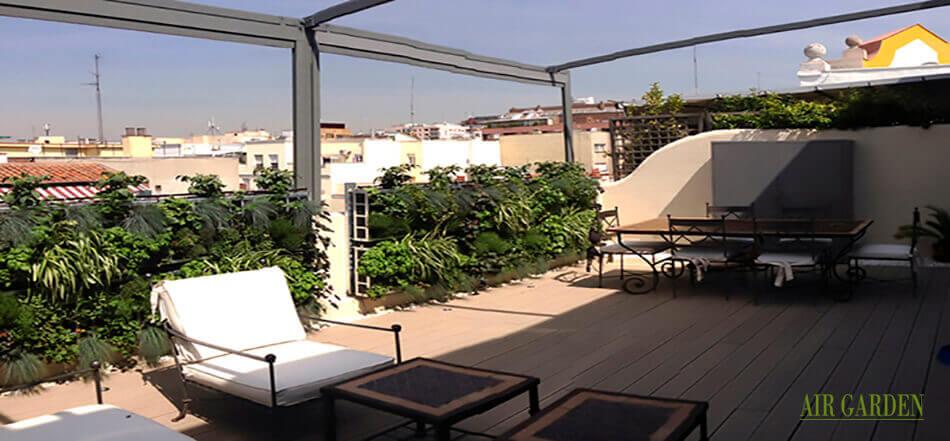 ideas terraza atico JARDINES VERTICALES ATICO MADRID SPAIN AIR GARDEN