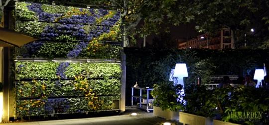 Jardín vertical para división de ambientes