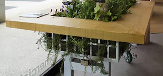 mesas de cultivo urbano